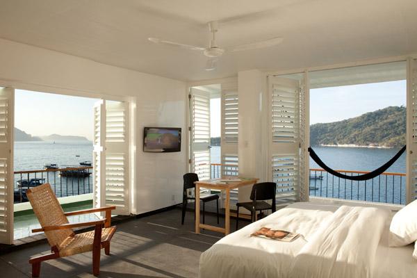 habitacion con vista al mar